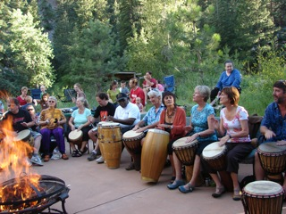 drum circle in eldorado canyon