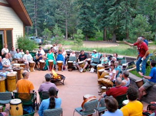 drum circle at el dorado canyon